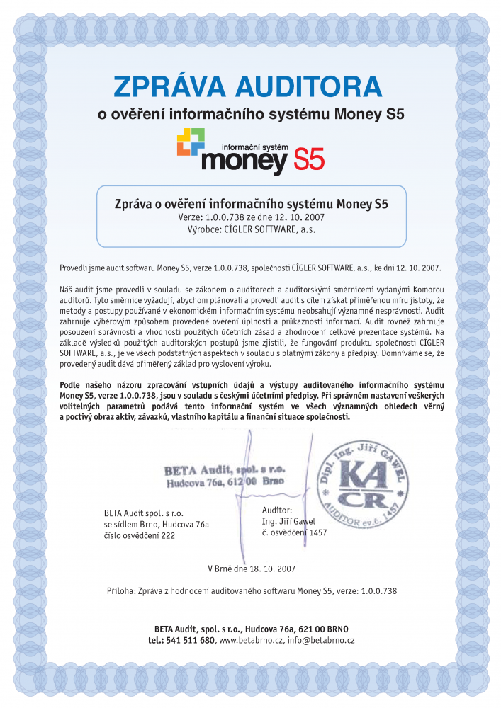 Audit Money S5