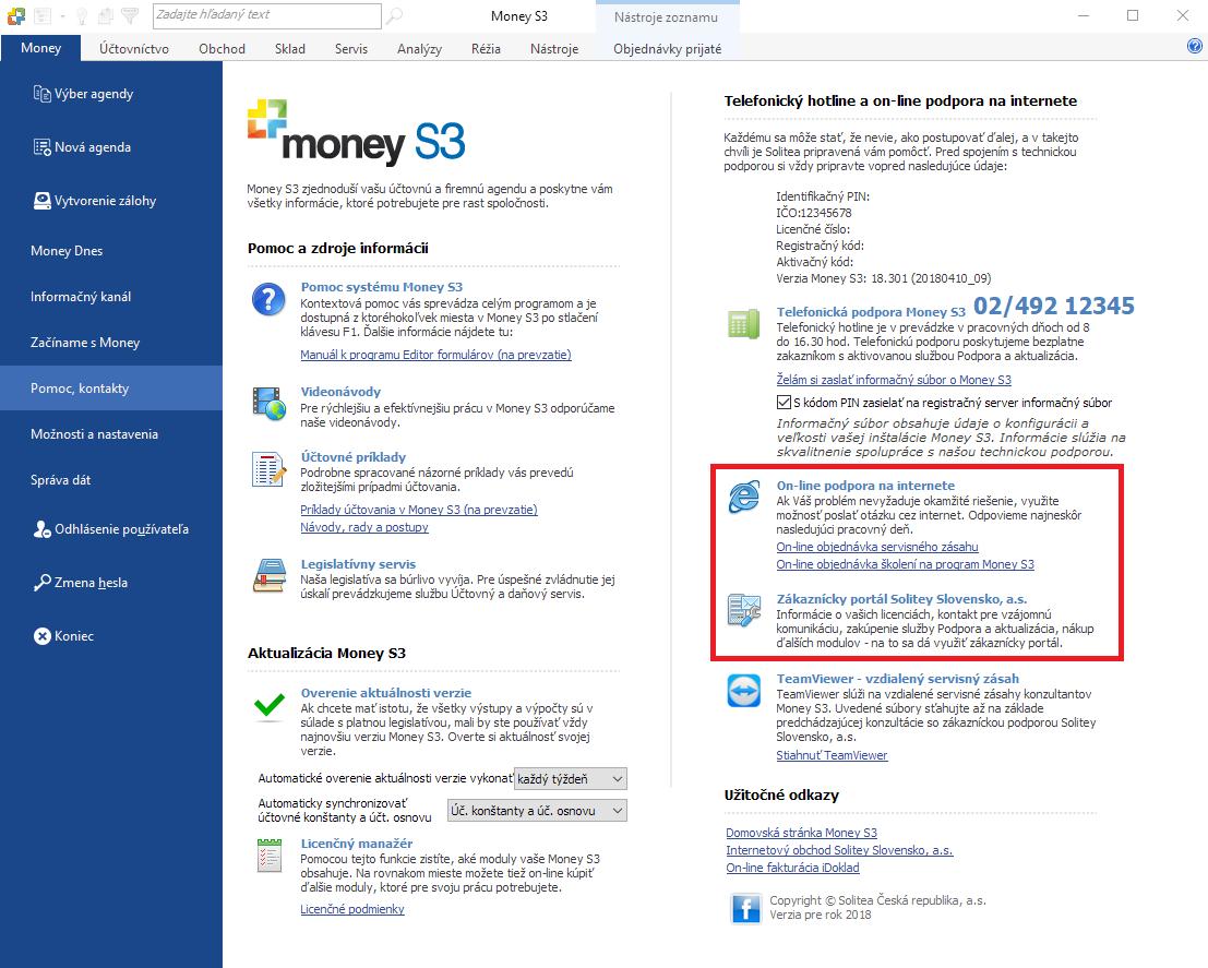 Zákaznícky portál Money S3 - návod na použitie - Solitea Slovensko 1549736ad0
